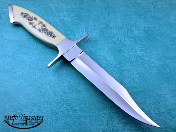 Custom Fixed Blade, N/A, 440-C Stainless Steel, Phenolic Knife made by Billy Mace Imel