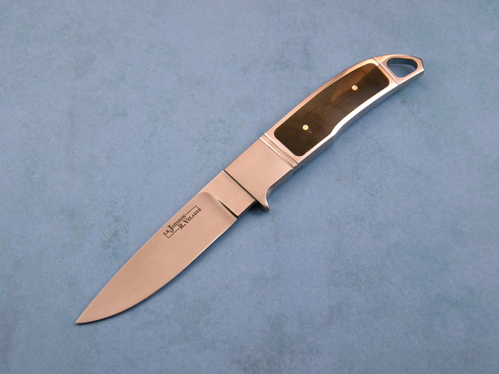 Custom Fixed Blade, N/A, ATS-34 Steel, BIg Horn Sheep Knife made by R. Velarde SR johnson