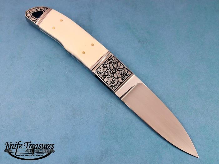Custom Fixed Blade, N/A, BG-42 Stainless Steel, Fossilized Mammoth Knife made by Dietmar Kressler