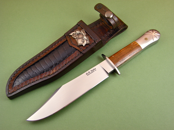 Custom Fixed Blade, N/A, CPM-154cm, Fossilized  Knife made by Randy Golden