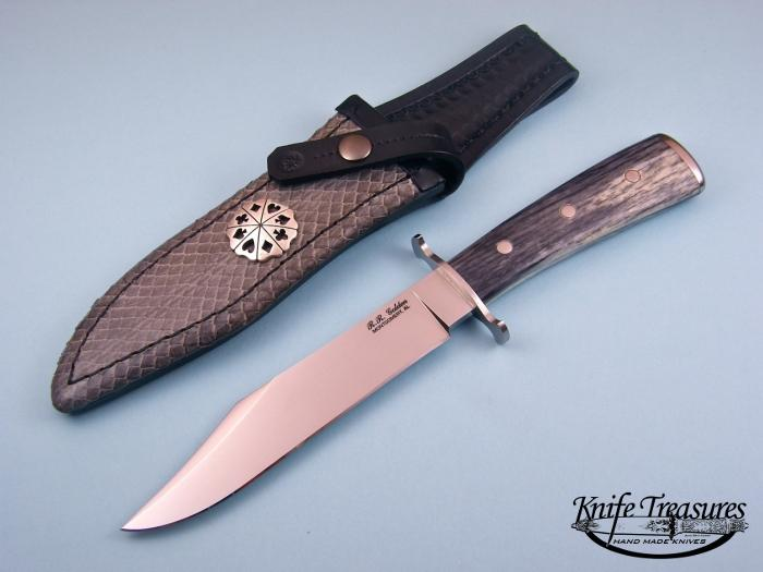 Custom Fixed Blade, N/A, ATS-34 Steel, Bone Knife made by Randy Golden