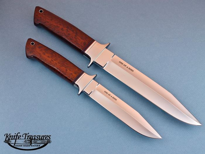 Custom Fixed Blade, N/A, ATS-34 Steel, Snakewood Knife made by Steve SR Johnson